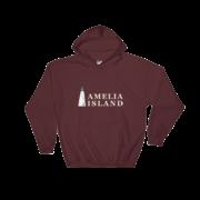 Amelia Island Iconic Lighthouse Hoodie Maroon