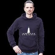 Amelia Island Lighthouse Asphalt Hoodie Male Model