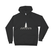 Amelia Island Lighthouse Black Hoodie