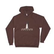 Amelia Island Lighthouse Brown Hoodie