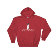 Amelia Island Lighthouse Hoodie Red