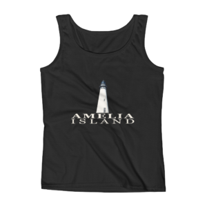Amelia Island Lighthouse Missy Fit Tank-Top Black