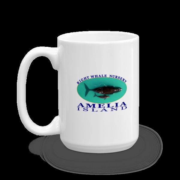 Amelia Right Whale Nursery Mug Handle-on-Left 15oz