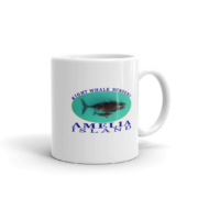 Amelia Right Whale Nursery Mug Handle-on-Right 11oz