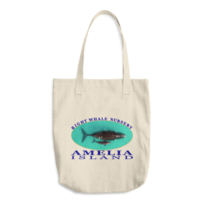 Amelia Island Right Whale Nursery Beige Tote