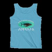 Amelia Island Right Whale Nursery Ladies Missy Fit Ringspun Tank Top Caribbean-Blue