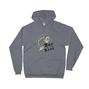 Bad to the Bone California Fleece Hoodie Asphalt