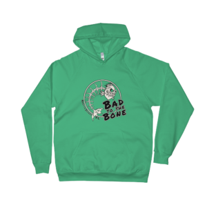 Bad to the Bone California Fleece Hoodie Kelly-Green