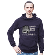 Florida's Oldest Saloon Asphalt Hoodie Male Model
