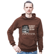 Florida's Oldest Saloon Brown Hoodie Male Model