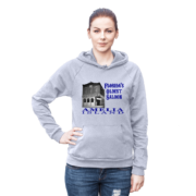 Florida's Oldest Saloon Heather-Grey Hoodie Female Model