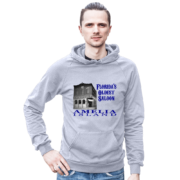 Florida's Oldest Saloon Heather-Grey Hoodie Male Model