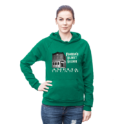 Florida's Oldest Saloon Kelly-Green Hoodie Female Model