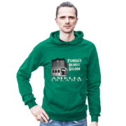 Florida's Oldest Saloon Kelly-Green Hoodie Male Model