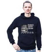 Florida's Oldest Saloon Navy Hoodie Male Model