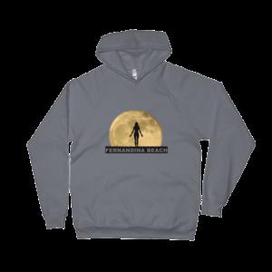 Full Moon Yoga California Fleece Hoodie Asphalt