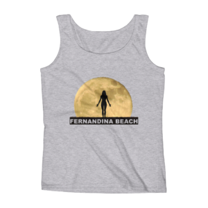 Full Moon Yoga Missy Fit Tank-Top Heather-Grey