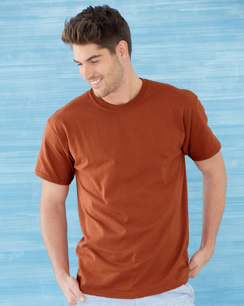 Model wearing Gildan Ultra 2000 Cotton T-Shirt