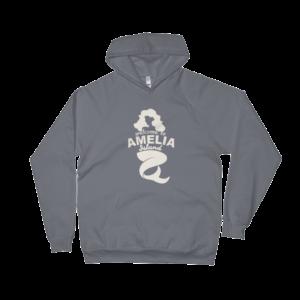 Welome to Amelia Mermaid California Fleece Hoodie Asphalt