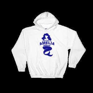 Welome to Amelia Mermaid Hoodie White