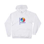 Yin & Yang White Pullover Hoddie Front