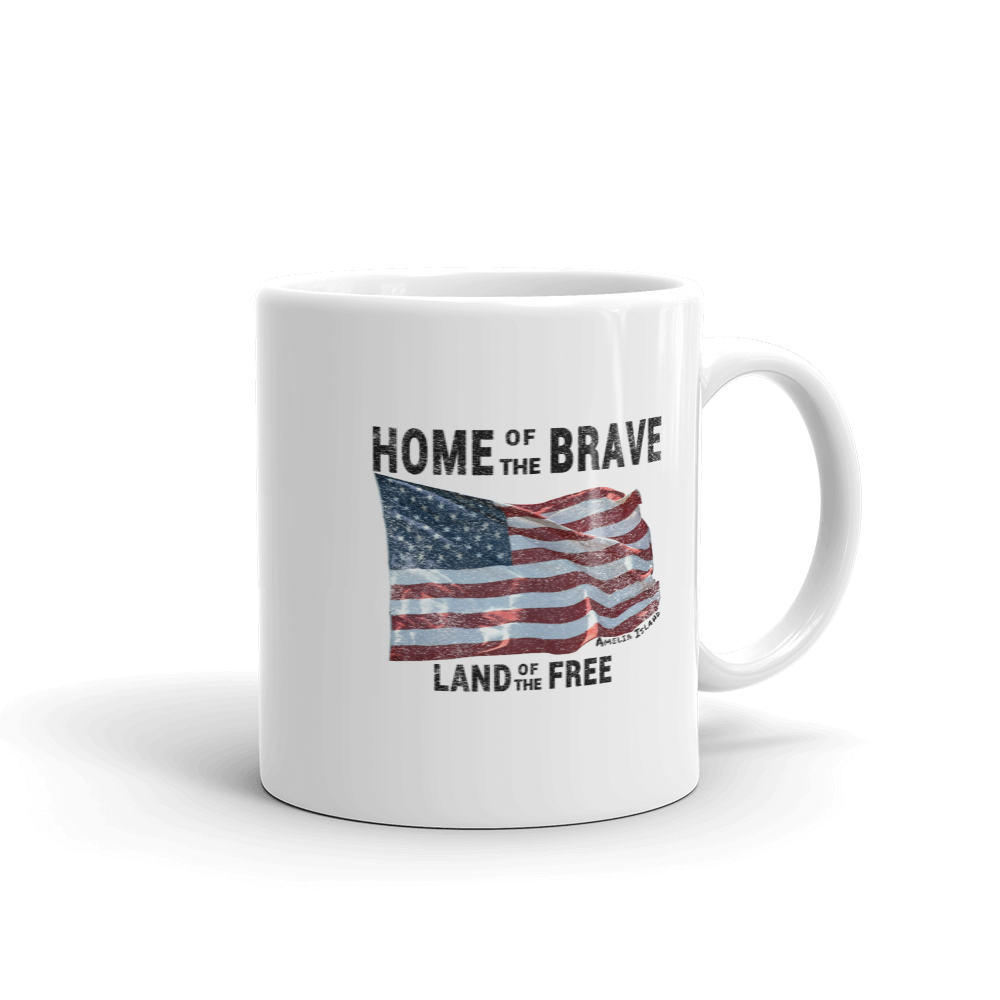 Home of the Brave Land of the Free Mug