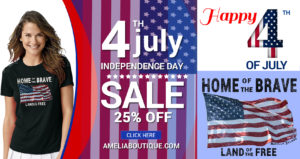 4th July Home of the Brave - Land of the Free Facebook Ad
