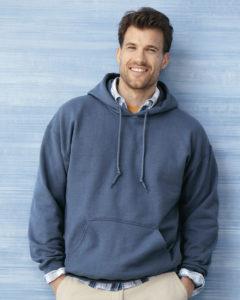 5495 Pullover Fleece Hoodie male model