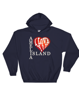 Amelia I Love You Hoodie Navy