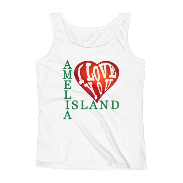 Amelia I Love You Missy Fit Tank-Top White