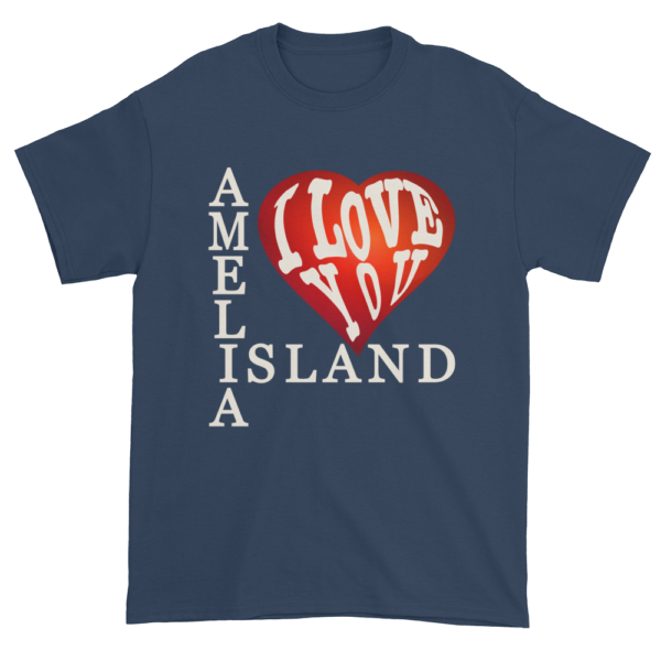 Amelia I Love You Ultra Cotton T-Shirt Blue-Dusk