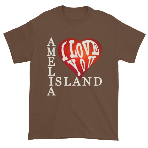 Amelia I Love You Ultra Cotton T-Shirt Chestnut