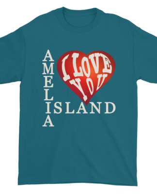 Amelia I Love You Ultra Cotton T-Shirt Galapagos-Blue
