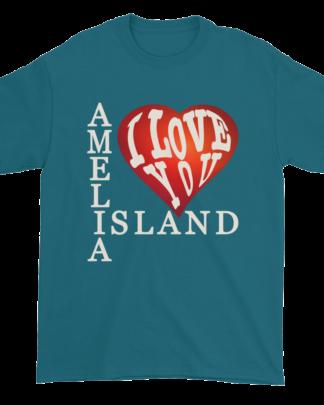 Amelia I Love You Ultra Cotton T-Shirt Galapagos-Blue