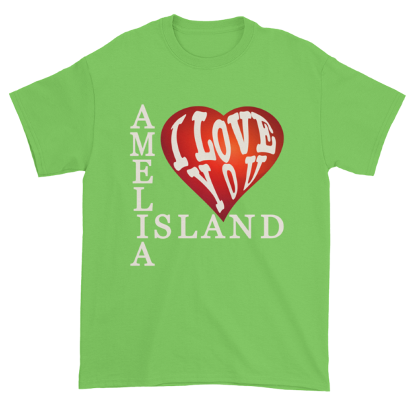 Amelia I Love You Ultra Cotton T-Shirt Lime