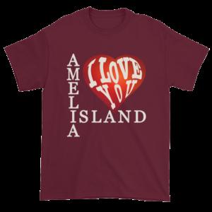Amelia I Love You Ultra Cotton T-Shirt Maroon