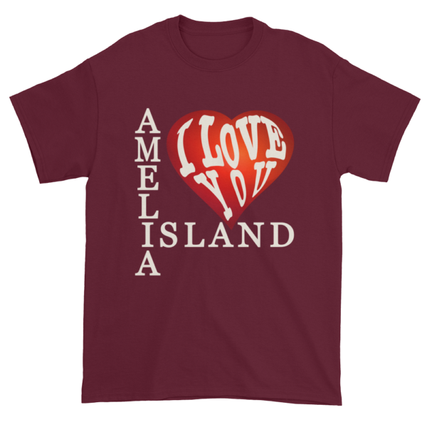 Amelia I Love You Ultra Cotton T-Shirt Maroon