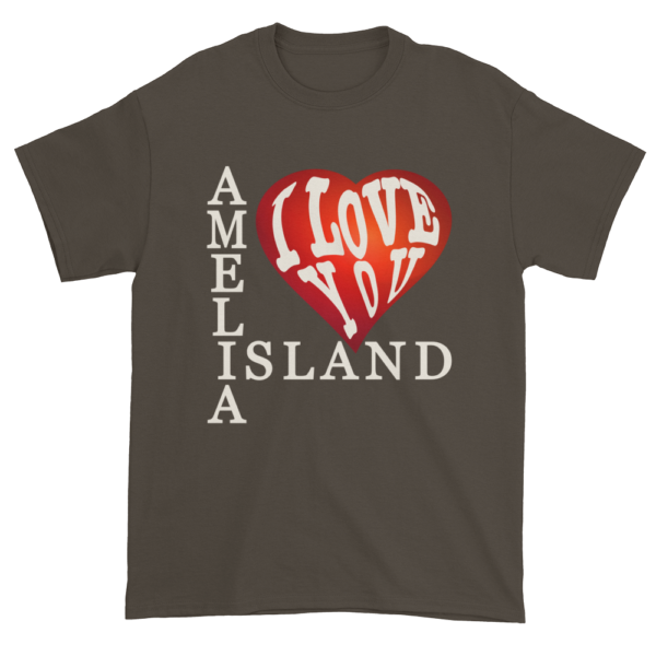 Amelia I Love You Ultra Cotton T-Shirt Olive