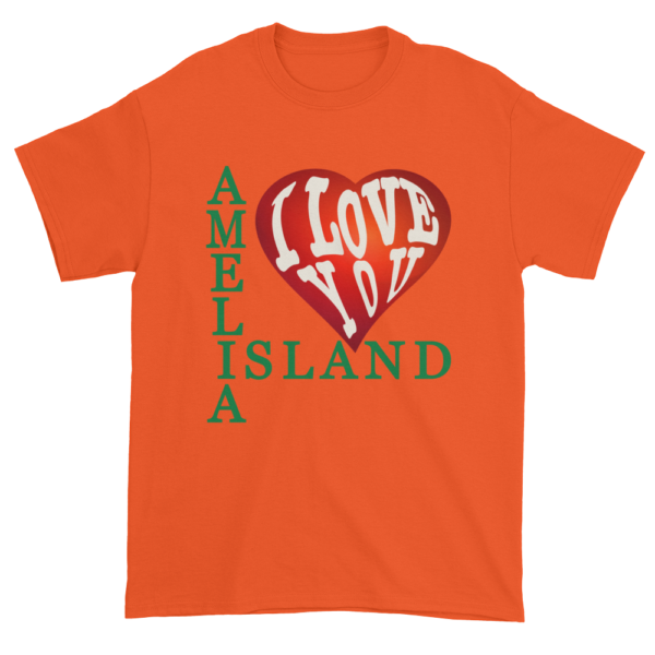 Amelia I Love You Ultra Cotton T-Shirt Orange