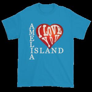 Amelia I Love You Ultra Cotton T-Shirt Sapphire