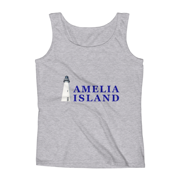 Amelia Iconic Lighthouse Missy Fit Tank-Top Heather-Grey