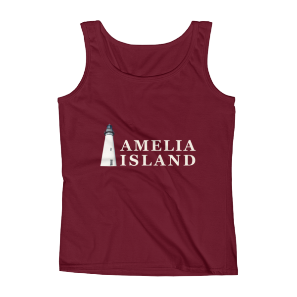 Amelia Iconic Lighthouse Missy Fit Tank-Top Independence-Red