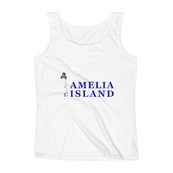 Amelia Iconic Lighthouse Missy Fit Tank-Top White
