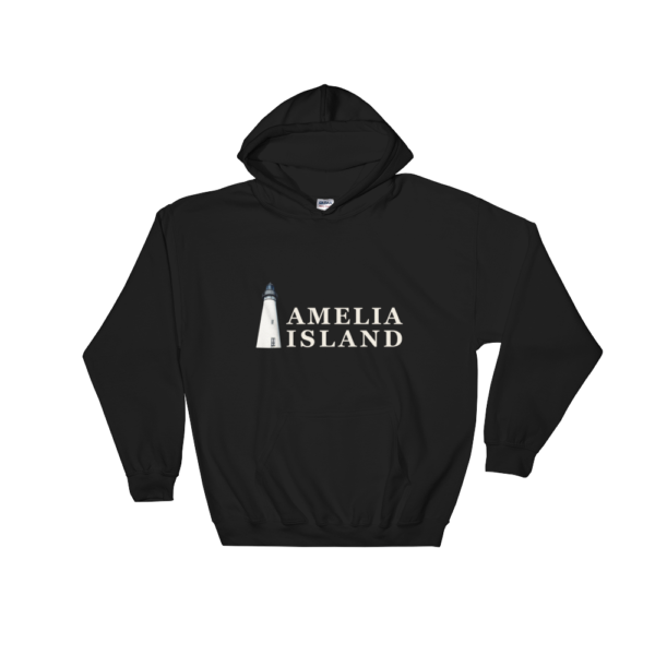 Amelia Island Iconic Lighthouse Hoodie Black