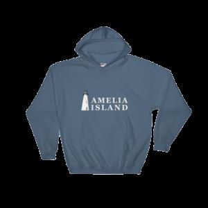 Amelia Island Iconic Lighthouse Hoodie Indigo-Blue