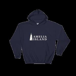 Amelia Island Iconic Lighthouse Hoodie Navy
