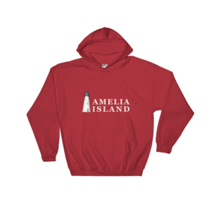 Amelia Island Iconic Lighthouse Hoodie Red