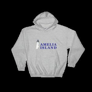 Amelia Island Iconic Lighthouse Hoodie Sport-Grey