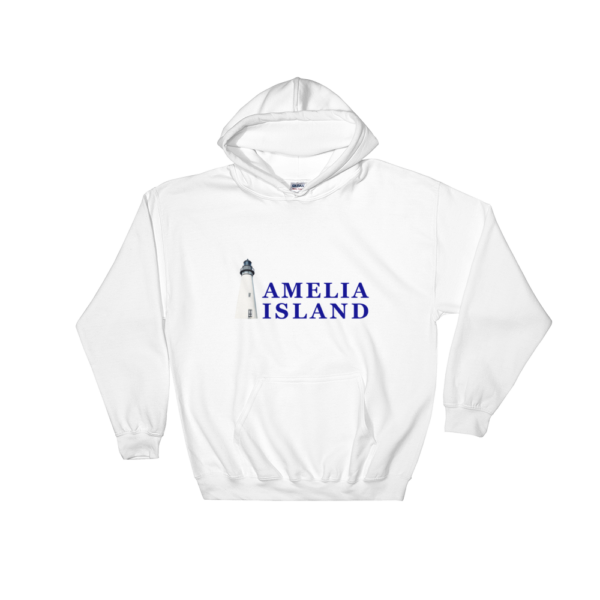 Amelia Island Iconic Lighthouse Hoodie White