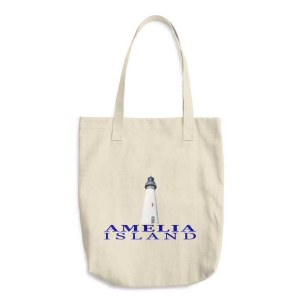 Amelia Island Lighthouse Beige Tote